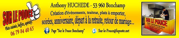 Sur le pouce à Bonchamp les Laval - Traiteur à domicile, plats à emporter, soirées, départ à la retraite, retour de mariage... sur le pouce Bonchamp - Anthony H