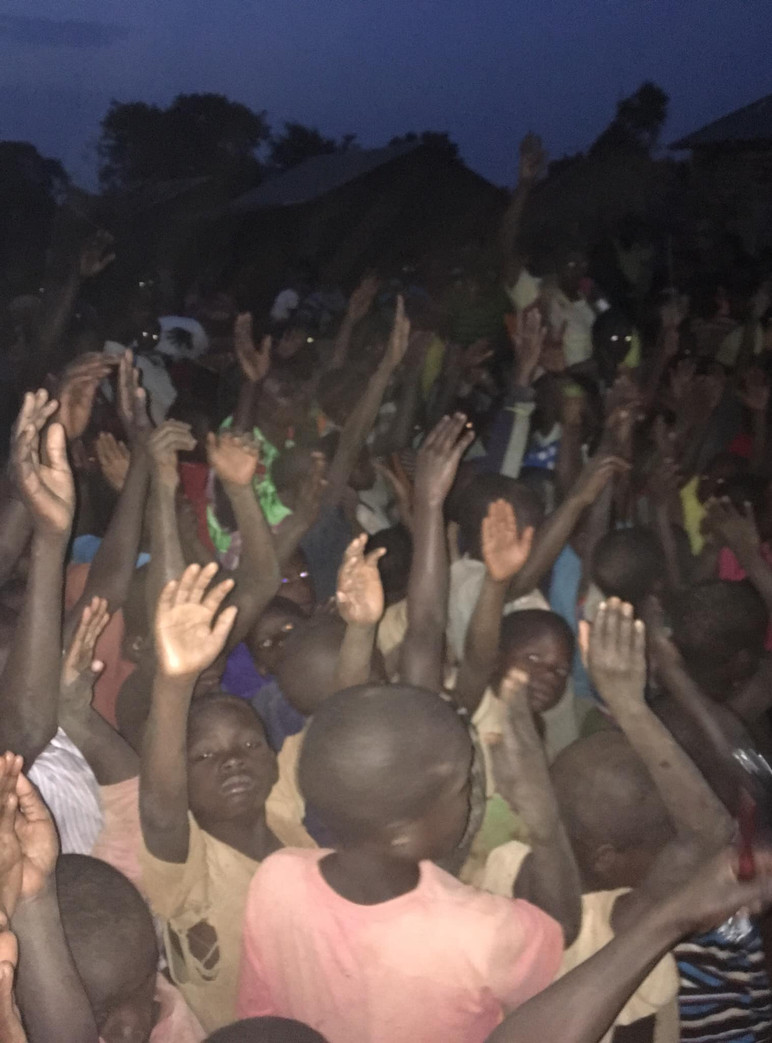 Ugandan Children Worshipping