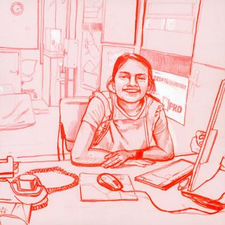 Devi, Head Cashier