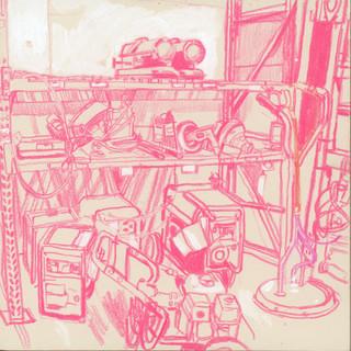 Back shelf w/ generators and kerosene heaters