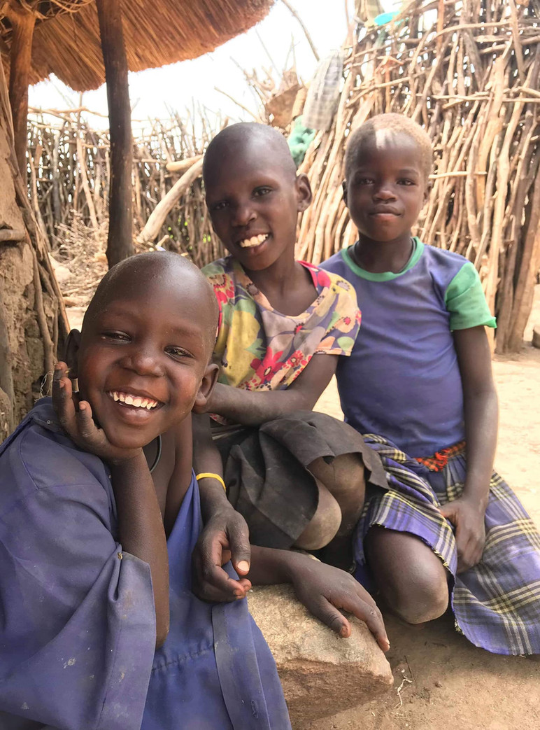 Karamojong region in Uganda near the vil