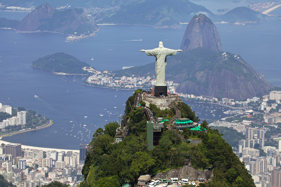 Getting robbed at Rio's Christ the Redeemer statue
