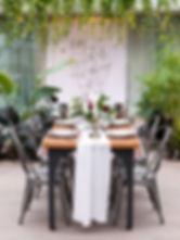 Wedding table setting, fall styled wedding shoot, tropical, elegant, Aquatopia Conservatory, Ottawa, wedding venue