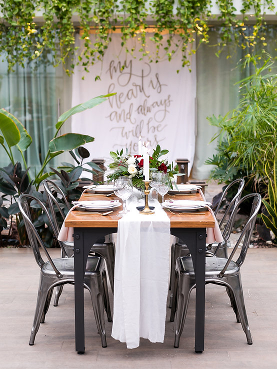 Wedding table setting, fall styled wedding shoot, tropical, elegant, Aquatopia Conservatory, Ottawa, wedding venue