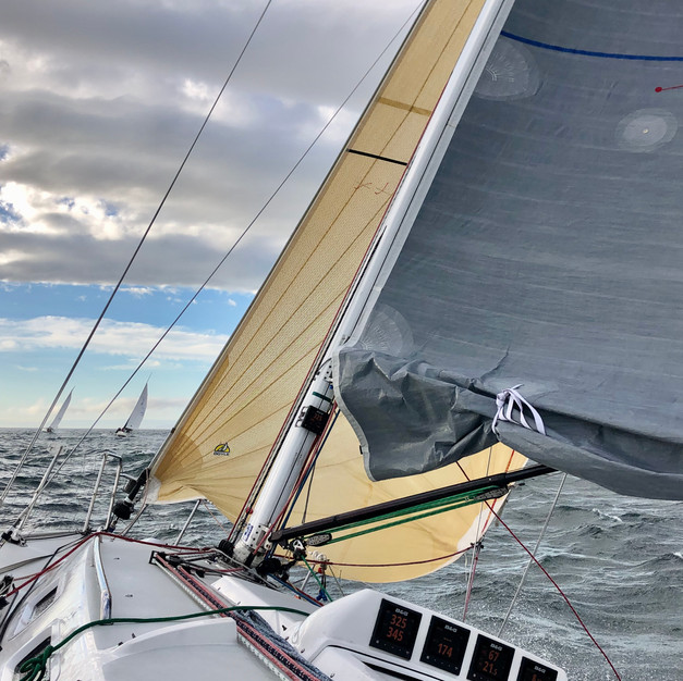 Reaching across the Strait of Juan de Fuca