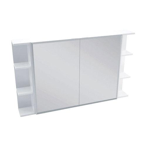 900 Mirror Cabinet, Bevel Edge + 2 Side Shelves