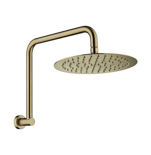 KAYA Gooseneck Shower Arm Set, Urban Brass