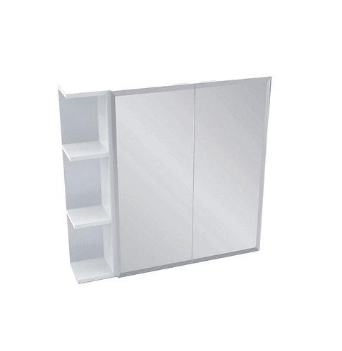 600 Mirror Cabinet, Bevel Edge + 1 Side Shelf