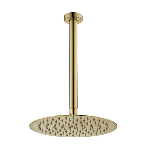 KAYA Ceiling Dropper Shower Set, Urban Brass