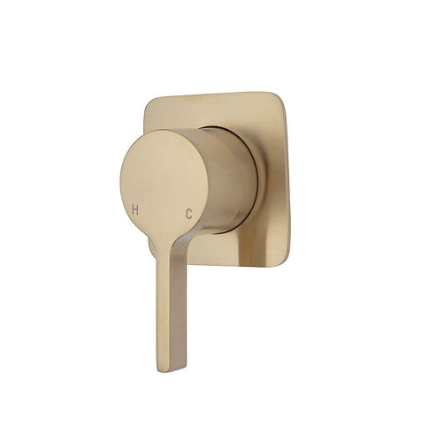 SANSA Wall Mixer, Urban Brass, Soft Square Plate
