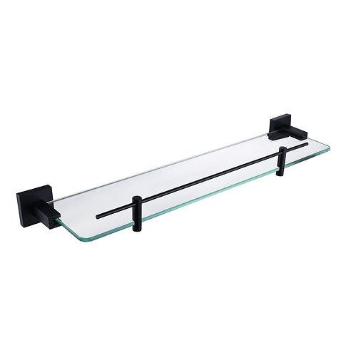 Single Glass Shelf EMP-93607 - Matt Black