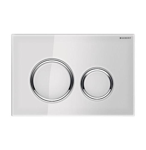 GEBERIT Sigma 21 White & Chrome Round Button Flush Plate