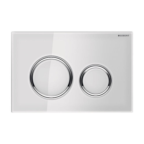 GEBERIT Sigma 21 White & Chrome Round Button Flush Plate