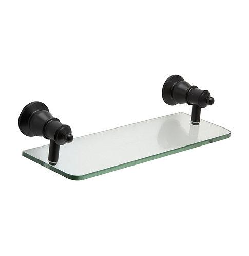 LILLIAN Glass Shelf, Matte Black