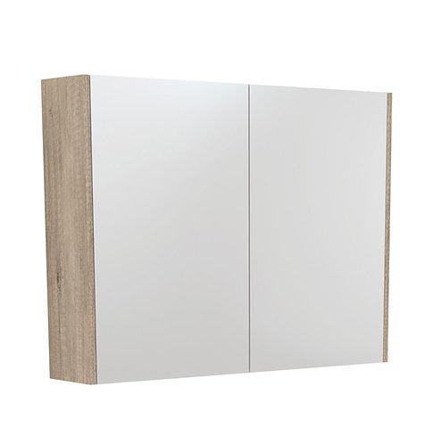 900 Mirror Cabinet with Scandi Oak Side Panels