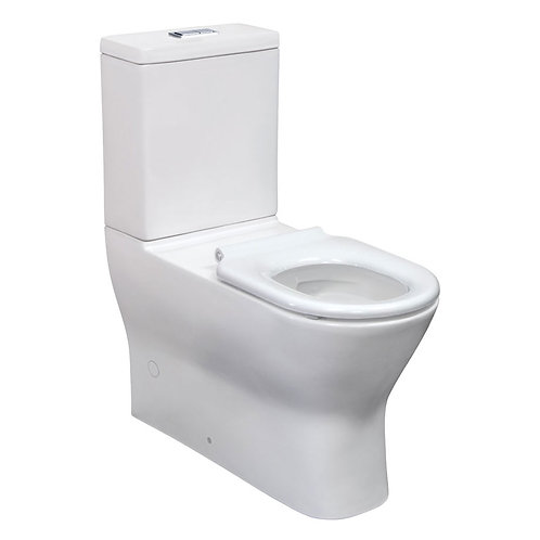 DELTA CARE 800 Back-to-Wall Suite, White Seat, Slim Buttons