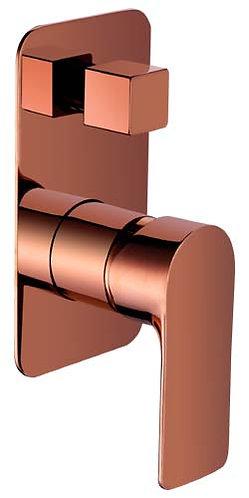 Sleek Wall Mixer With Diverter - Rose Gold