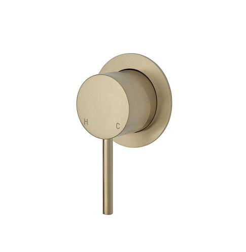 KAYA Wall Mixer, Urban Brass, Small Round Plate