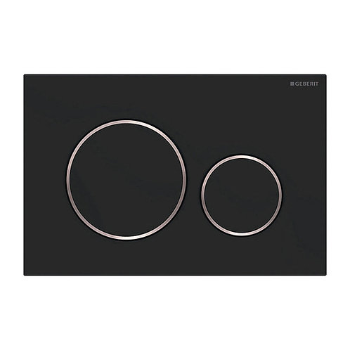 GEBERIT Sigma 20 Matte Black, Round Button Flush Plate