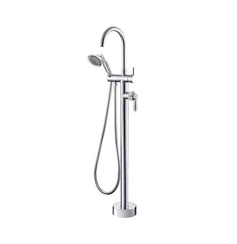 ELEANOR Floor Mixer & Shower, Chrome / Chrome