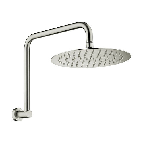 KAYA Gooseneck Shower Arm Set, Brushed Nickel