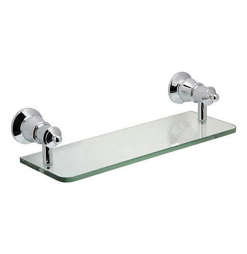 LILLIAN Glass Shelf, Chrome