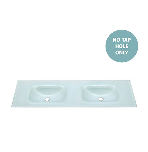 MAMBO Ice 1500 Tempered Glass Double Basin-Top (No Tap Hole)