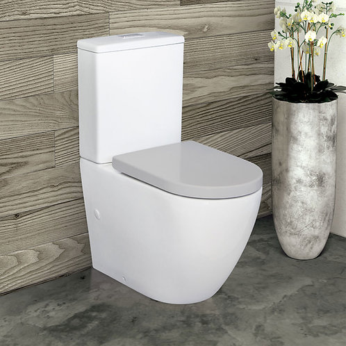 ALIX Rimless Ambulant Back-to-Wall Suite, Grey Seat