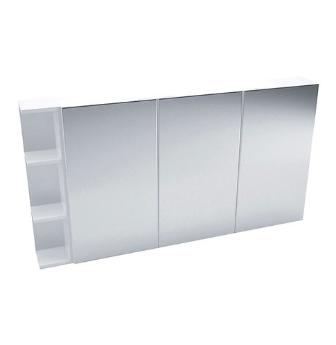 1200 Mirror Cabinet, Pencil Edge + 1 Side Shelves
