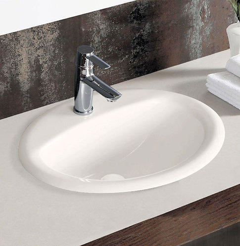 CRYSTAL Off-White Fully-Inset Basin