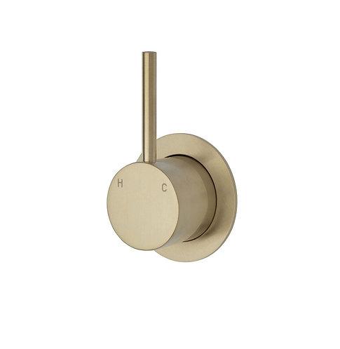 KAYA UP Wall Mixer, Urban Brass, Small Round Plate