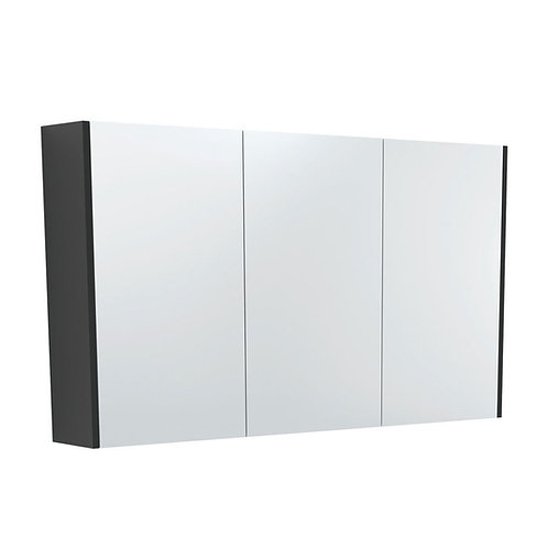 1200 Mirror Cabinet with Matte Black Side Panels