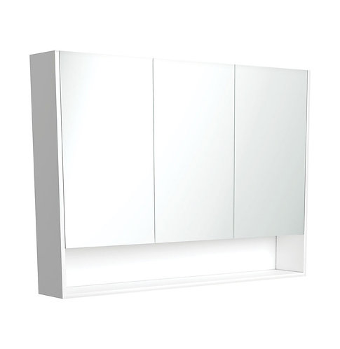 1200 Undershelf Mirror Cabinet, Gloss White