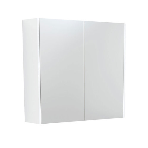 750 Mirror Cabinet with Gloss White Side Panels