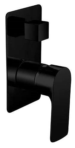 Sleek Wall Mixer With Diverter Black
