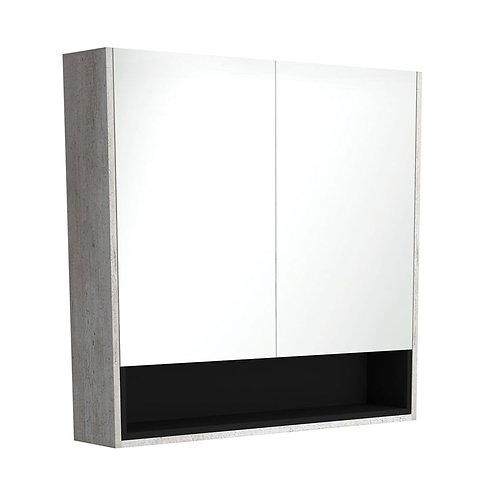 900 Industrial Undershelf Mirror Cabinet, Matte Black Insert