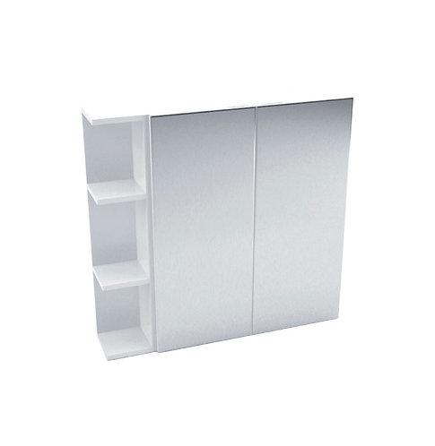 600 Mirror Cabinet, Pencil Edge + 1 Side Shelf