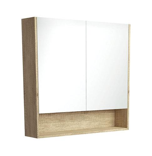 900 Undershelf Mirror Cabinet, Scandi Oak