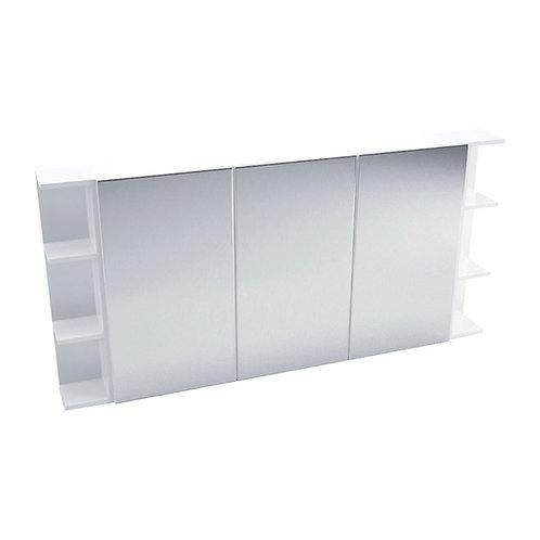 1200 Mirror Cabinet, Pencil Edge + 2 Side Shelves