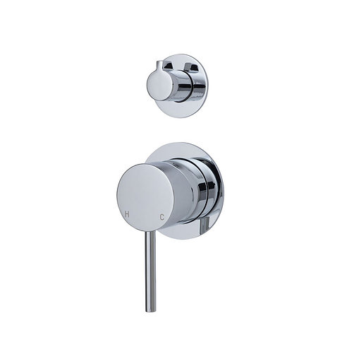 KAYA Wall Diverter Mixer, Small Round Plates