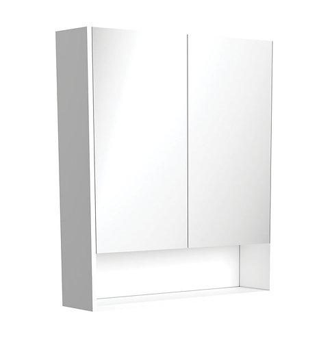 750 Undershelf Mirror Cabinet, Matte White