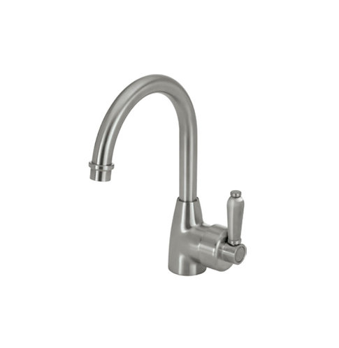 ELEANOR Gooseneck Basin Mixer, Brushed Nickel