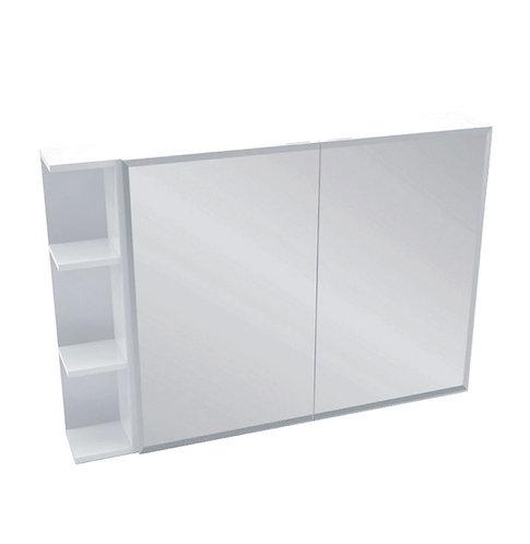 900 Mirror Cabinet, Bevel Edge + 1 Side Shelves