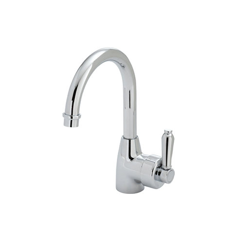 ELEANOR Gooseneck Basin Mixer, Chrome / Chrome