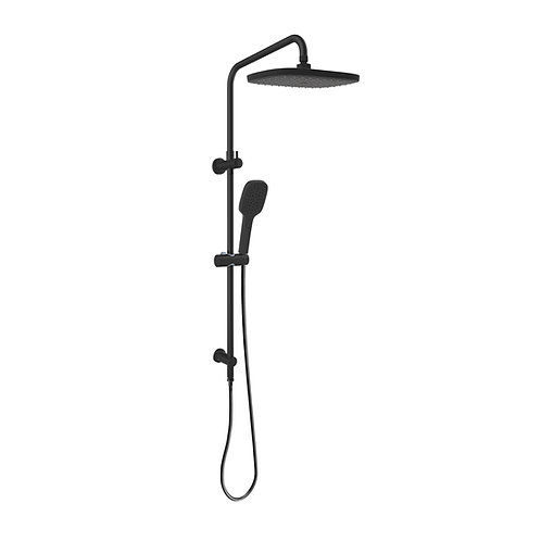 Twin Shower With Rail Black