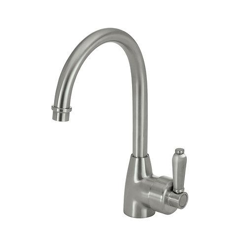 ELEANOR Gooseneck Sink Mixer, Brushed Nickel / Brushed Nickel