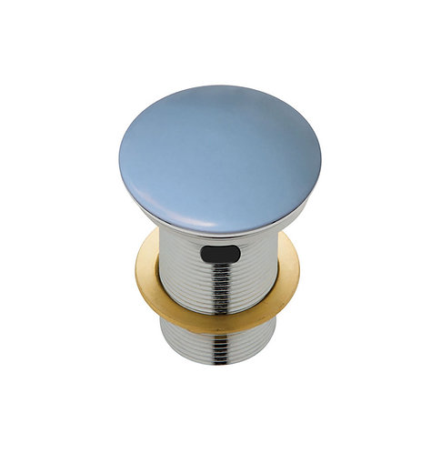 Ceramic Cap Pop-Up Waste, 32mm with Overflow, Matte Blue