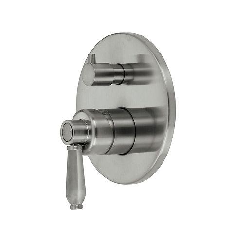 ELEANOR Wall Mixer Diverter, Brushed Nickel / Brushed Nickel