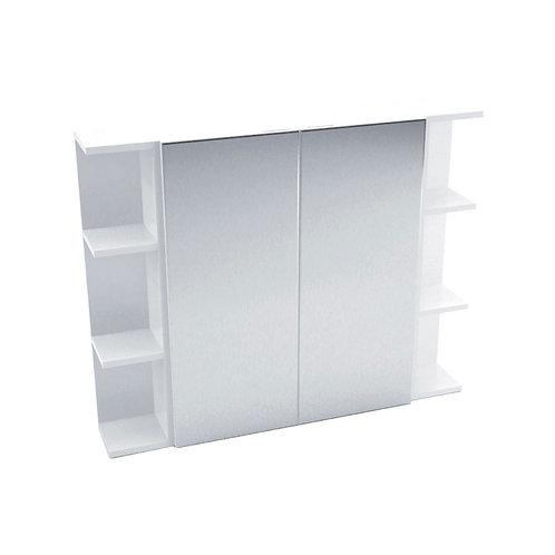 600 Mirror Cabinet, Pencil Edge + 2 Side Shelves