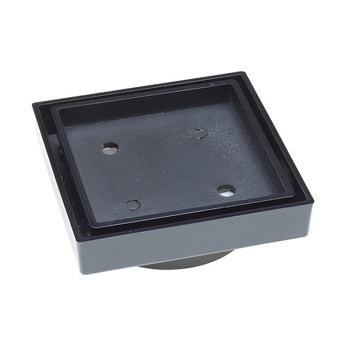 Tile Bed Floor Waste, Matte Black, 80mm Outlet